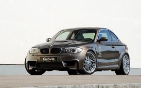 Картинка фон, тюнинг, BMW, БМВ, копейка, G-Power, tuning, передок, Hurricane, 1 серии