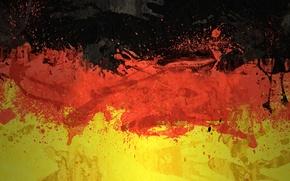 Картинка цвета, краски, Германия, флаг, flag, german, Флаг Федеративной Республики Германия