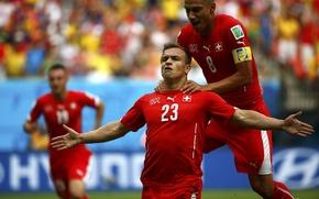 Картинка Швейцария, Футбол, Бразилия, Football, Sport, Футболист, Brasil, ФИФА, FIFA, Игрок, World Cup 2014, Чемпионат Мира …