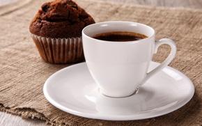Картинка кофе, завтрак, кекс, good morning