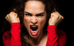 Картинка woman, scream, anger