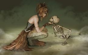 Картинка ведьма, witch, скелет, туман