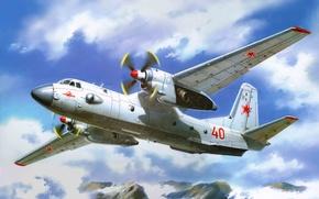 Картинка самолет, арт, вихрь, СССР, силы, модели, ВВС, вооруженные, советский, транспортный, Антонов, является, прозвище, военно, разработанный, …