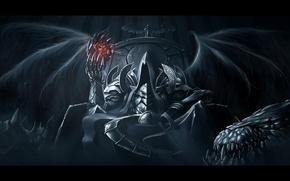 Обои демоны, тьма, Diablo 3, Diablo III: Reaper of Souls, Malthael