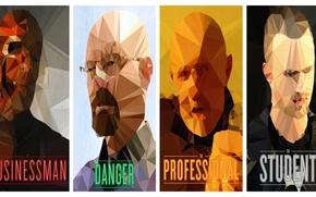 Картинка абстракция, сериал, постер, персонажи, Breaking Bad, во все тяжкие