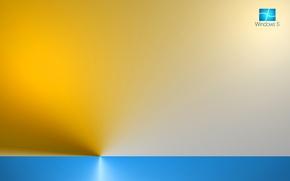Картинка компьютер, лучи, цвет, текстура, логотип, горизонт, эмблема, windows, операционная система