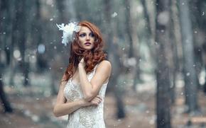 Обои Frosty Winter, девушка, снег, Alessandro Di Cicco