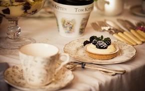 Обои десерт, dessert, сладкое, sweet, еда, крем, blackberry, tart, пирог, ежевика