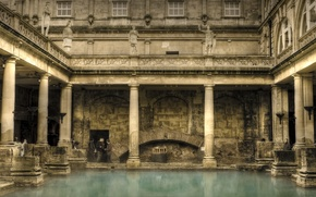 Обои архитектура, Римские бани, колонны