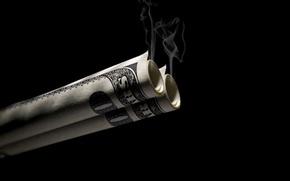 Картинка дым, доллар, Валюта, дымок.