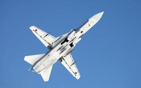 Картинка су-24, вид снизу, фронтовой бомбардировщик, ввс россии