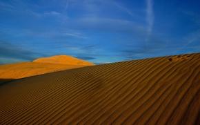 Обои солнце, пейзаж, пустыня, жара
