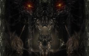 Обои дракон, глаза