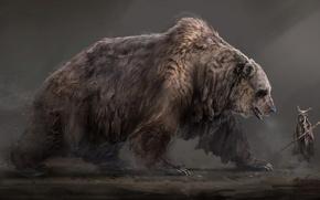 Картинка дух, медведь, арт, fantasy, шаман