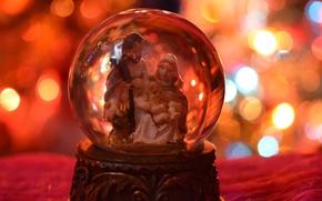 Картинка рождество, украшение, новогодний огни