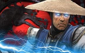 Картинка Игры, mortal combat, riden, молнии.