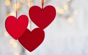 Картинка красный, сердце, боке
