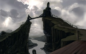 Обои мост, обоя, рисунок