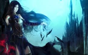 Картинка девушка, замок, магия, Order of Ecclesia, Castlevania, Shanoa