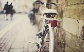 Картинка велосипед, город, улица