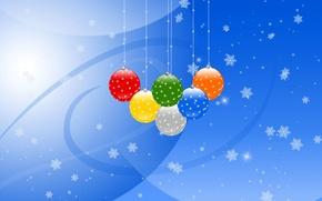 Картинка праздник, игрушки, рождество, шарик, украшение