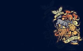 Картинка животные, девиз, Игра Престолов, Game Of Thrones