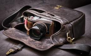 Картинка фон, камера, сумка