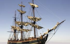 Картинка фото, корабль, парусник