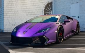 Картинка Lamborghini, Vorsteiner, Black, Wheels, Huracan