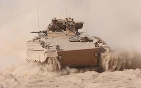 Картинка песок, машина, пыль, боевая, пехоты, Marder, «Marder»