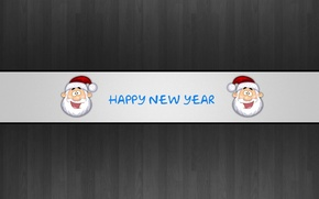 Картинка надпись, новый год, санта, Happy New Year