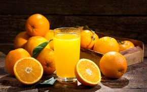 Картинка стакан, апельсин, сок, апельсиновый сок