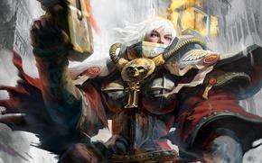 Картинка настроение, warhammer, воительница