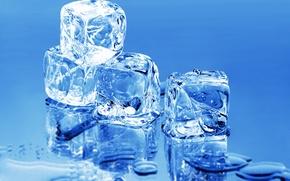 Обои минимализм, макро, вода, лед