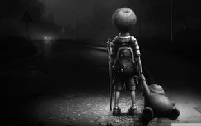 Картинка пустота, ночь, брошенный, одиночество, Малыш