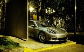 Обои улица, Porsche, гараж