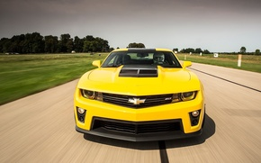 Картинка Top Gear, Yellow, Chevrolet Camaro ZL1