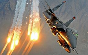 Обои самолет, Airstrike, авиаудар