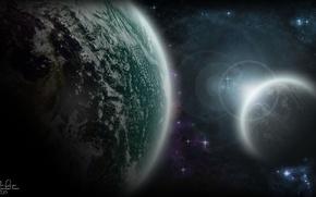 Картинка космос, звезды, планеты, stars