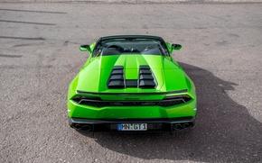 Обои выхлопы, green, Lamborghini, supercar, Spyder, Novitec, зад, Torado, тюнинг, машина, Huracan, новитек