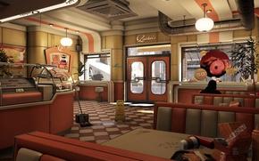 Картинка кафе, Game, Watch Dogs, Ubisoft Montreal