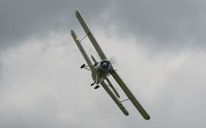 Картинка полёт, самолёт, многоцелевой, биплан, лёгкий, Antonov AN-2
