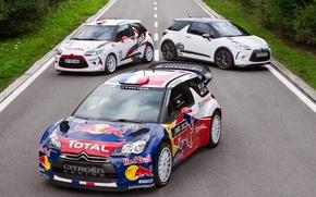 Картинка дорога, спорт, Ситроен, Citroen, автомобиль, гонщик, ралли, WRC, ситроен DS3, Себастьян Лёб