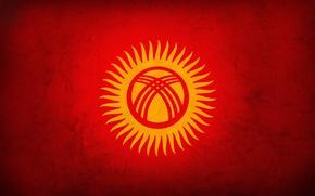 Картинка красный, флаг, kyrgyztan, кыргызстан
