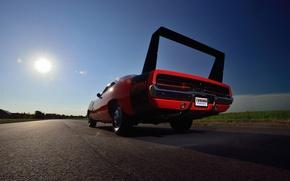 Обои фон, Додж, 1969, Dodge, Muscle car, антикрыло, Мускул кар, Hemi, Daytona, Дайтона