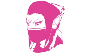 Картинка Valve, Dota 2, Minimalism, Lanaya, Templar Assassin, Trap, Psi Blades, Psionic Trap, Refraction, Meld