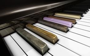 Картинка клавиши, пианино, airena art