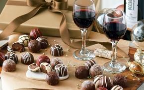 Картинка коробка, новый год, шоколад
