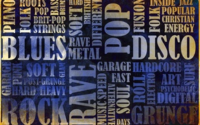 Картинка музыка, рок, блюз, vintage, винтаж, гранж, grunge, disco, фолк, blues, жанры, rok, rave, рэйв, glam, …