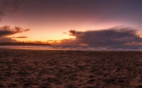 Обои море, 152, песок, пляж, закат